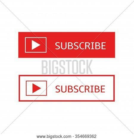 Subscribe Banners. Subscribe Buttons With Play Arrow Sign