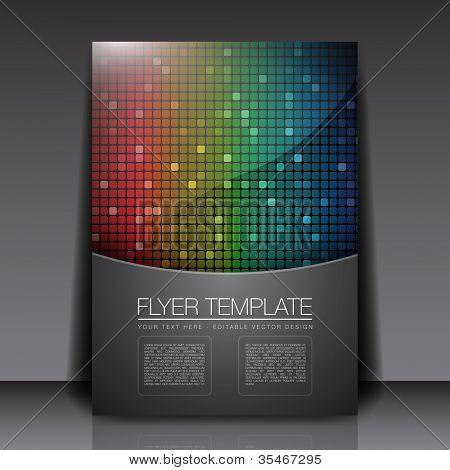 Rainbow Squares - Flyer Template Vector Design