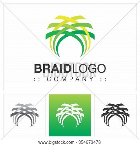 Braid (fiber, Fabric, Loom, Net, Network) Vector Symbol Company Logo (logotype). Connect, Handcraft,