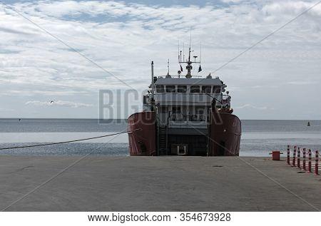 Large Car Ferry From Punta Delgada To Tierra Del Fuego, Argentina