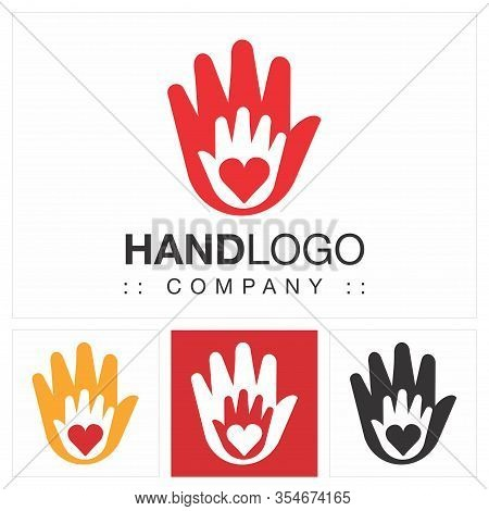 Hands (earth, Globe, Circle) Vector Symbol Company Logo (logotype). Handcraft, Union, Social, Icon I