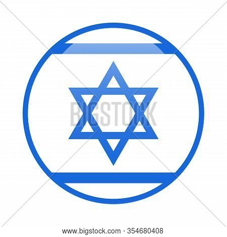 Star Of David Blue And White Icon Jewish Tradition Biblical Symbol Isolated Vector Illustration Isra