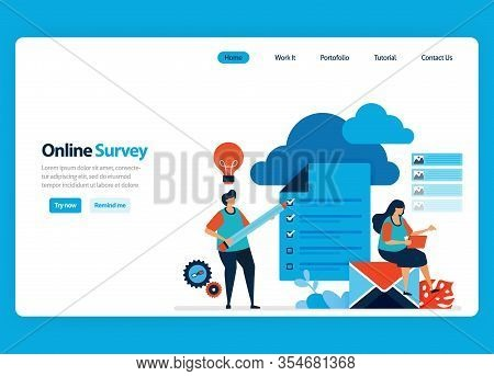 Landing Page Design For Online Survey And Exam, Hosting And Server Services To Process Survey Result