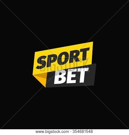 Sport Bet Isolated Vector Icon. Logo For Online Betting. Bookmaker Sign On Dark Background