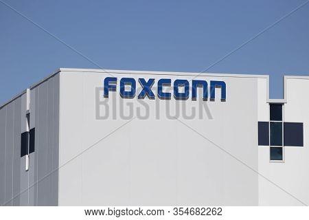 Plainfield - Circa March 2020: Foxconn Manufacturing Plant. Foxconn, Also Known As Hon Hai Precision