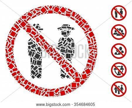 Dot Mosaic Based On No Gentlemen. Mosaic Vector No Gentlemen Is Created With Scattered Rectangular I