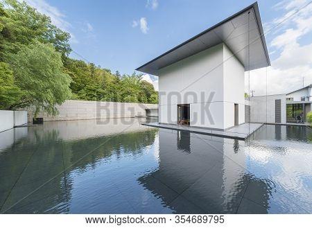 Kanazawa, Japan - June 02, 2017: The D.t. Suzuki Museum. The Museum Commemorates The Works Of Daiset