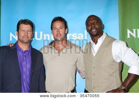 LOS ANGELES - JUL 24:  Todd Palin, Brent Gleeson, Terry Crews arrives at the NBC TCA Summer 2012 Press Tour at Beverly Hilton Hotel on July 24, 2012 in Beverly Hills, CA