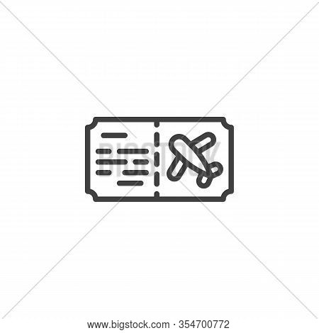 Airline Ticket Line Icon. Linear Style Sign For Mobile Concept And Web Design. Airline Travel Boardi