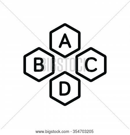 Black Line Icon For Basic Base Underlying Fundamental Necessary Essential Alphabet