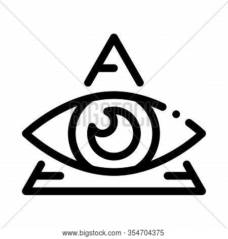All-seeing Eye Icon Vector. Outline All-seeing Eye Sign. Isolated Contour Symbol Illustration