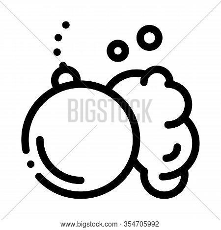 Wrecking Ball Icon Vector. Outline Wrecking Ball Sign. Isolated Contour Symbol Illustration