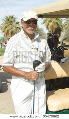 PALM SPRINGS - FEB 7: Berry Gordy at the 15th Frank Sinatra Celebrity Invitational Golf Tournament at Desert Willow Golf Course on February 7, 2003 in Palm Springs, California