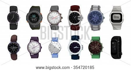 Watch Wrist Vector Cartoon Set Icon. Isolated Cartoon Set Icon Wristwatch. Vector Illustration Clock