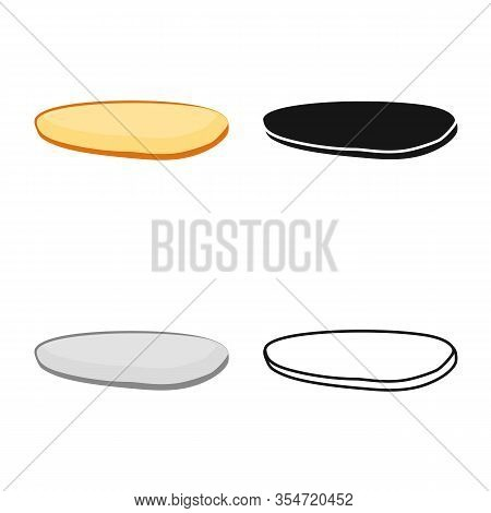 Vector Illustration Of Bun And Part Symbol. Web Element Of Bun And Bread Vector Icon For Stock.