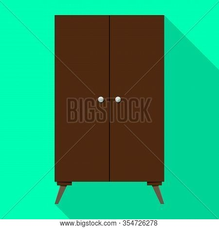 Cupboard Vector Icon.flat Vector Icon Isolated On White Background Cupboard .