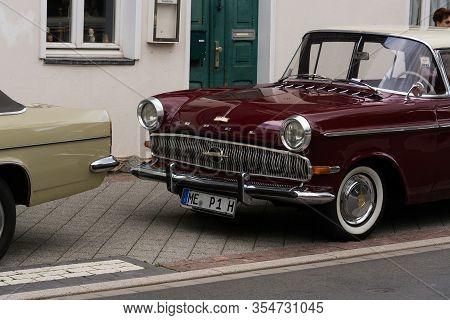 Heiligenhaus, Nrw, Germany - Septemer 10, 2017: Luxury Car Opel Kapitan, 1958, P1 Series Presented A