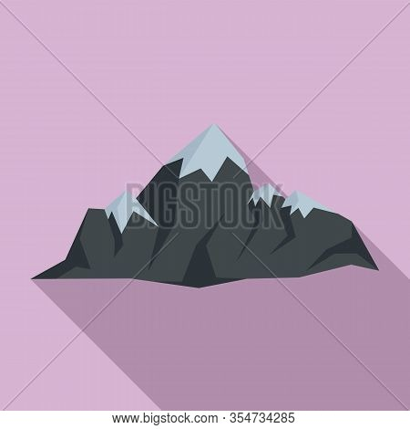 Swiss Mountains Icon. Flat Illustration Of Swiss Mountains Vector Icon For Web Design