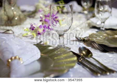 Soft Romantic Table Setting For Wedding