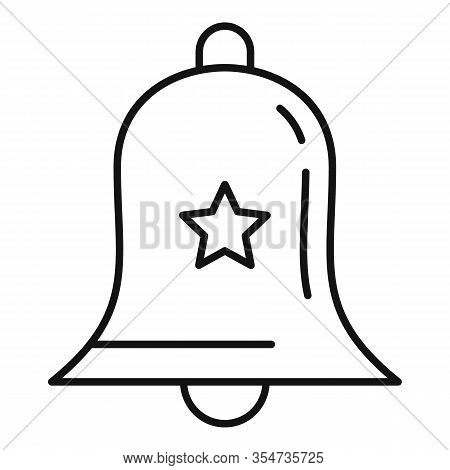 Smm Bell Icon. Outline Smm Bell Vector Icon For Web Design Isolated On White Background