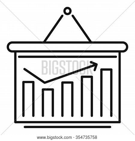 Smm Graph Chart Icon. Outline Smm Graph Chart Vector Icon For Web Design Isolated On White Backgroun