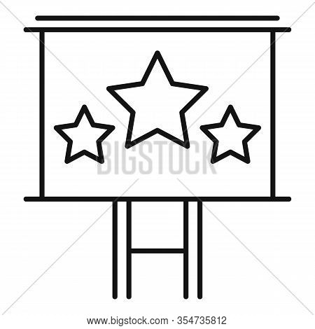 Smm Billboard Icon. Outline Smm Billboard Vector Icon For Web Design Isolated On White Background