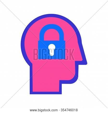 Introvert Personality Type Color Flat Vector Icon