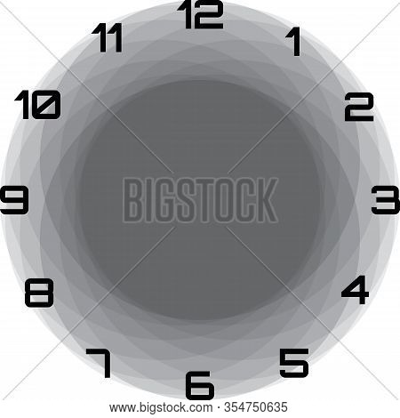 Clock Dial Black Big Numbers Circle Game Frame Hourly Black And Gray On Transparent Background