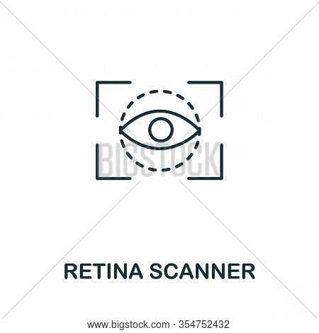 Retina Scanner Icon From Cyber Security Collection. Simple Line Retina Scanner Icon For Templates, W