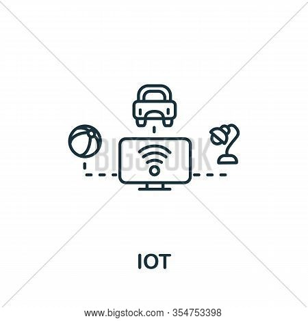 Iot Icon From Industry 4.0 Collection. Simple Line Element Iot Symbol For Templates, Web Design And