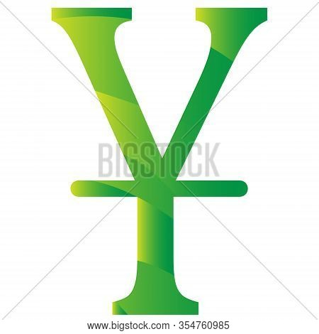 Chinese Yan Currency Symbol Of China. Icon Vector Illustration On A White Background