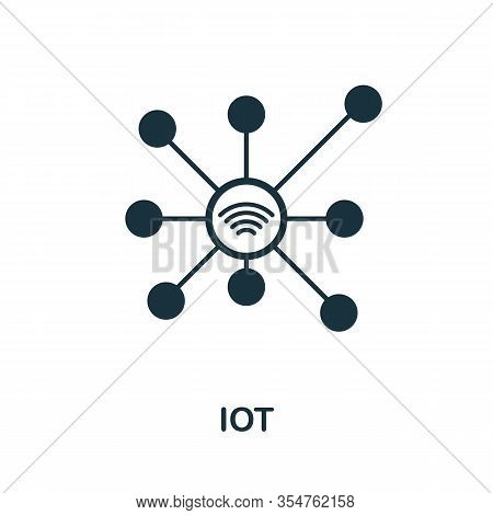 Iot Icon. Simple Element From Digital Disruption Collection. Filled Iot Icon For Templates, Infograp