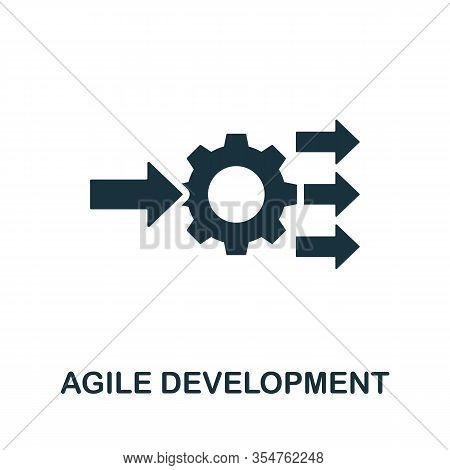 Agile Development Icon. Simple Element From Digital Disruption Collection. Filled Agile Development