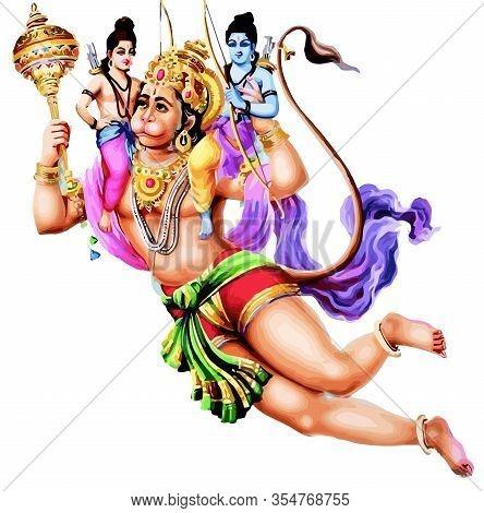 Hanuman God Monkey Image Photo Free Trial Bigstock