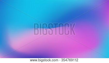 Blue Purple Pink Digital Gradient Background. Pearlescent Noble Vector Color Overlay. Liquid Neon Br