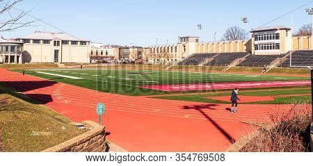 Pittsburgh, Pennsylvania, Usa 3/8/20 Gesling Stadium On The Campus Of Carnegie Mellon University On