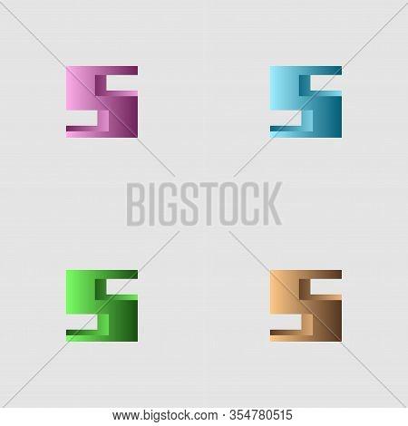 Rectangular Logo With Gradations Of Color