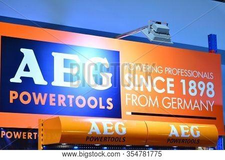 Pasay, Ph - Nov. 6: Aeg Powertools Booth At Manila Auto Salon On November 6, 2016 In Smx Convention