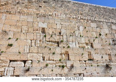 The Wailing Wall In Jerusalem - Israel
