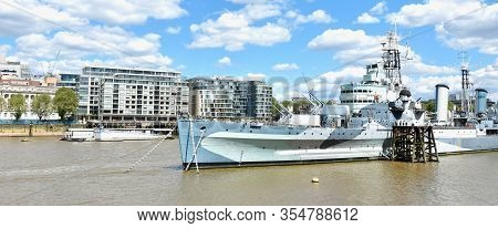 London: Feb 1, 2020 - Hms Belfast Is A Town-class Light Cruiser That Was Built For The Royal Navy. S