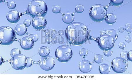 Molecules of Water