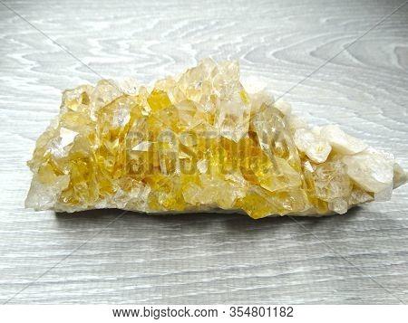 Crystals Citrine Quartz Natural Cluster Geological Geode