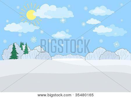 Landschaft, Wintertag