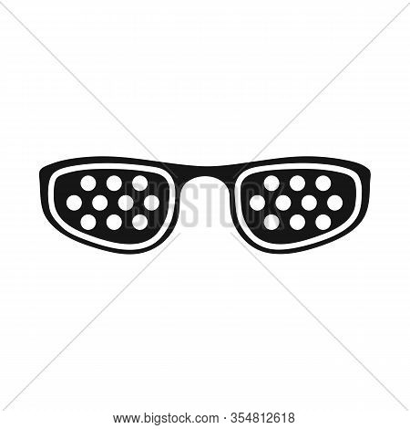 Vector Design Of Eyeglasses And Corrective Icon. Graphic Of Eyeglasses And Sunglasses Stock Vector I