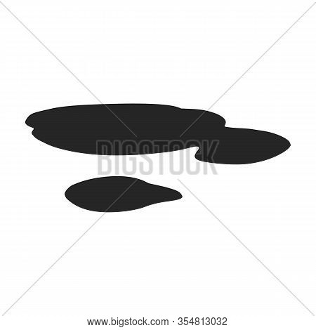 Water Puddle Vector Icon.black Vector Icon Isolated On White Background Water Puddle.