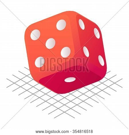 Dice Position Icon. Isometric Of Dice Position Vector Icon For Web Design Isolated On White Backgrou