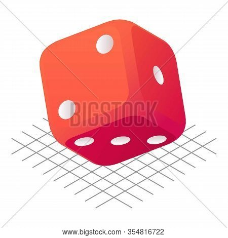 Dice Luck Icon. Isometric Of Dice Luck Vector Icon For Web Design Isolated On White Background