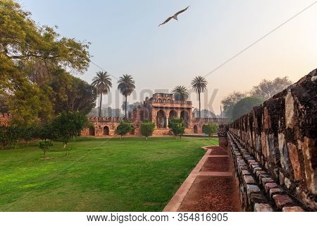 Gates Near The Tomb Of Isa Khan, The Humayuns Tomb Complex In India, New Dehli