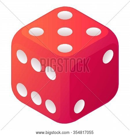 Bet Dice Icon. Isometric Of Bet Dice Vector Icon For Web Design Isolated On White Background