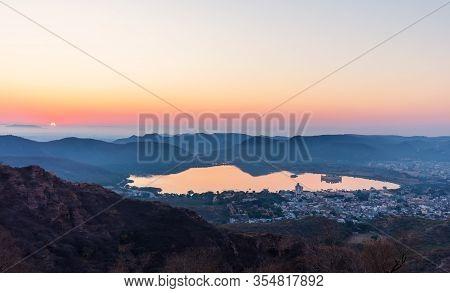 India At Sunrise, Man Sagar Lake View, Jaipur
